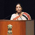 Nirmala Sitharaman addressing at the inauguration of the 3rd Edition of the Global Exhibition on Services (GES-2017), at Rashtrapati Bhavan, in New Delhi.jpg