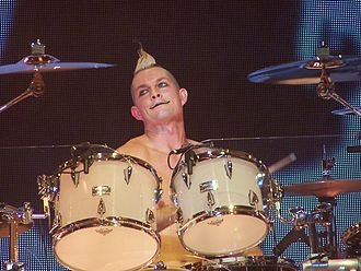 Adrian Young - Young performing with No Doubt at the Milwaukee Summerfest, July 2009.