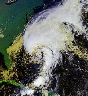 Hurricane Noel - Hurricane Noel undergoing extratropical transition on November 2