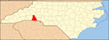 North Carolina Map Highlighting Cleveland County.PNG