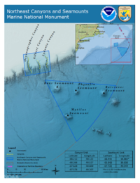 Northeast Canyons und Seamounts Marine National Monument map NOAA.png