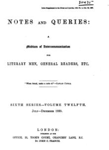 Notes and Queries - Series 6 - Volume 12.djvu