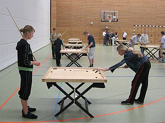 Novuss - Novuss players at the Baltic Children's Olympics, 2006