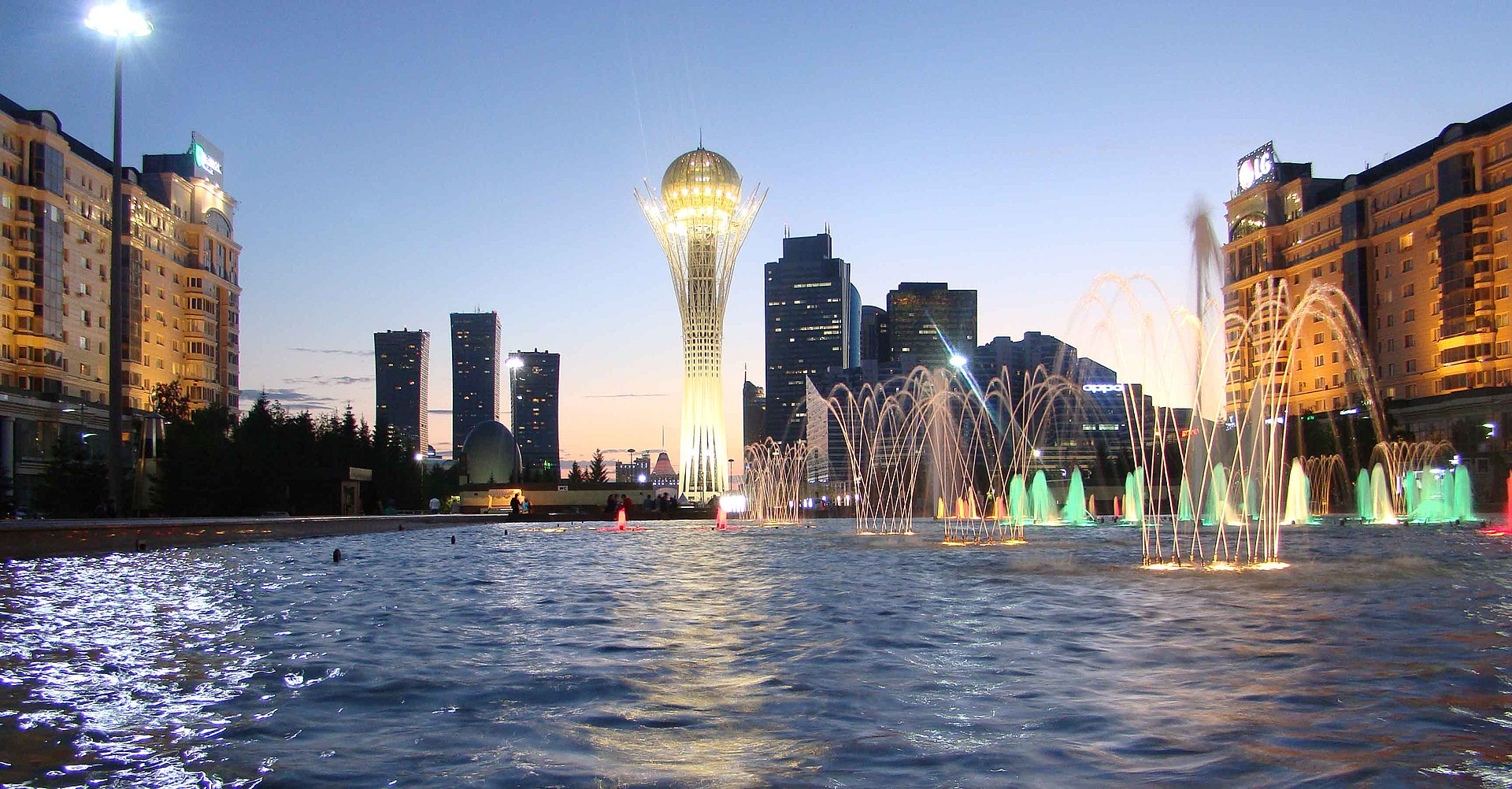 Nur-Sultan at the evening (cropped).jpg