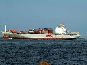 OOCL fortune p1, leaving Port of Rotterdam, Holland 15-Jul-2005.jpg