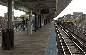 Oak Park station (CTA Green Line) - Image: Oak Park Tanks
