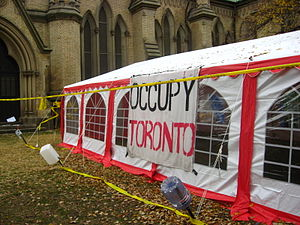 Occupy Toronto - Occupy Toronto tent next to the Cathedral Church of St James