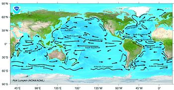 Ocean current simple english wikipedia the free encyclopedia a map of all the large ocean currents of the world gumiabroncs Images