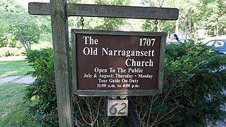 Old Narragansett Church - Image: Old Narragansett Church Wickford sign