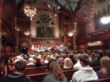 Christmas Eve services at the church in 2017.