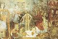 Olevano sul tusciano, grotta di san michele, battesimo di cristo, affresco IX secolo.jpg