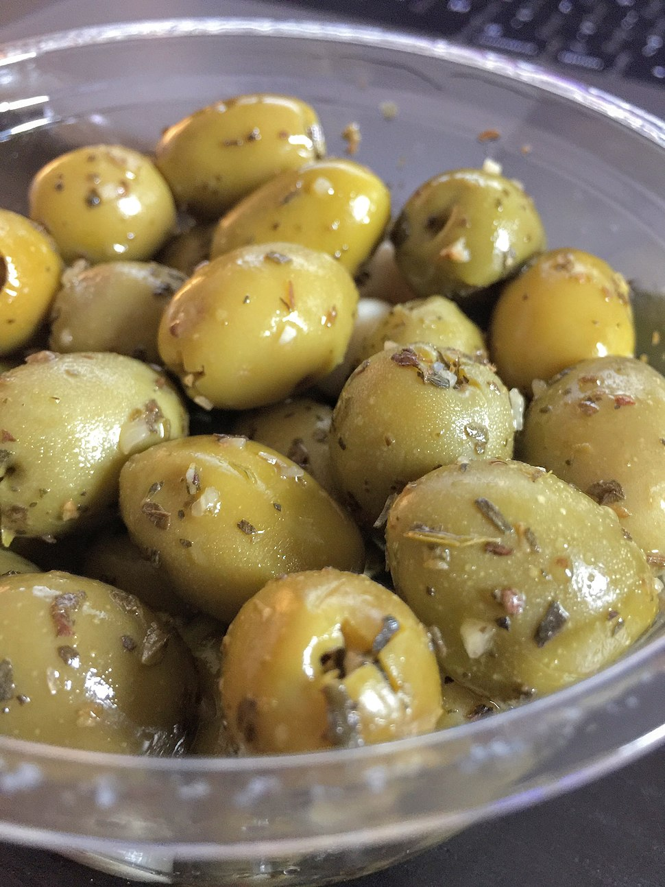 Olives in cup
