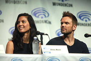 Olivia Munn - Munn with Deliver Us from Evil co-star Joel McHale at the 2014 WonderCon