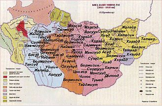 Bogd Khanate of Mongolia - Outer Mongolian tribes in 1910s