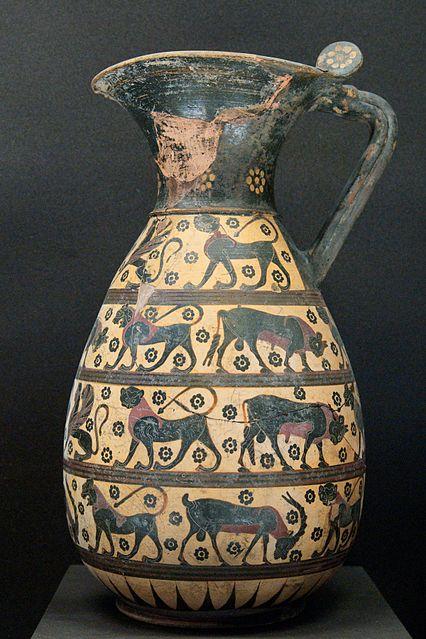 Olpe protocorinzia v. 640-w:630 a.C., Museo del Louvre