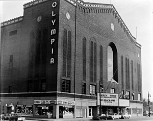 U.S. Route 16 in Michigan - Olympia Stadium on Grand River Avenue, home of the Detroit Red Wings from 1927 to 1979