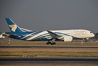 Oman Air B787-8 (A40-SY) landing at Suvarnabhumi International Airport (1).jpg
