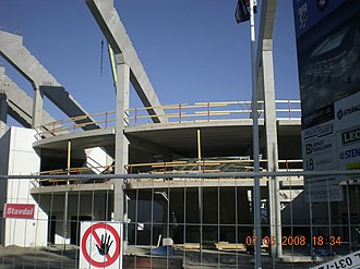 Gamla Ullevi - Stadium under construction in May 2008.