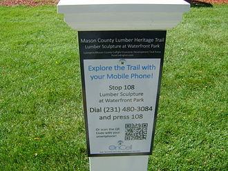 Mason County Sculpture Trail - QR codes for all the sculptures planned