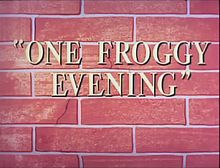 Description de l'image One Froggy Evening.jpg.