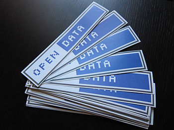 English: Open Data stickers