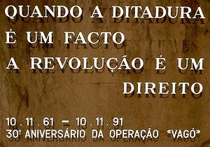 Estado Novo (Portugal) - Image: Operação Vagô memorial no Cemitério dos Prazeres