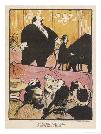 Alfred Schmidt (artist) - Image: Opera singer by Alfred Schmidt