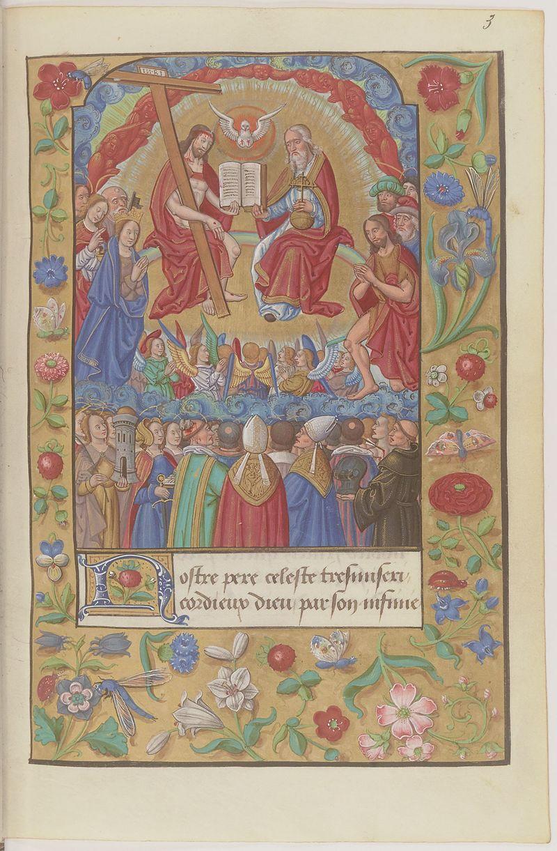Oraison de Jésus Christ - BNF Fr19246 f3r (Assemblée céleste).jpeg
