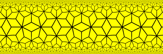 Order 7-3 rhombic tiling in the Band Model.png