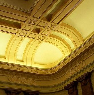 Oregon Supreme Court - Ornamental interior of the courtroom