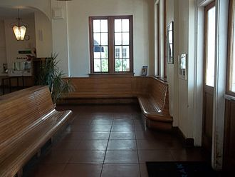 Orlando Health/Amtrak station - Part of the restored interior.