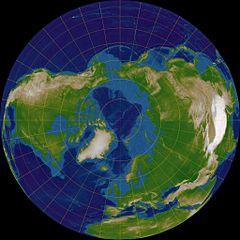 Polare Pojektion der Erde