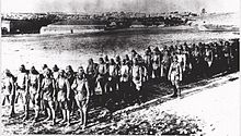 Soldiers standing in formation