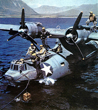 Consolidated PBY Catalina - PBY riding at sea anchor.