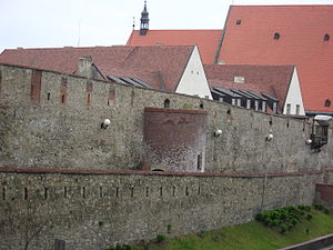 Bratislava fortifications - A part of the remaining stretch of fortification near St. Martin's Cathedral