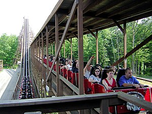 Beast roller coaster at Paramount's Kings Island.