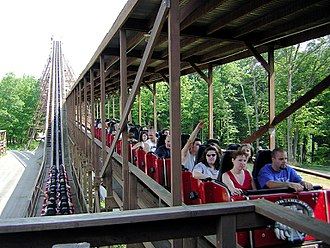 The Beast (roller coaster) - The Beast's lift hill and brake run