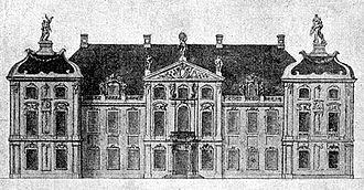 Czapski Palace - Façade Principale du Palais de Son Excellence Monseigneur le Comte Czapski, Staroste de Kniszyn à Warsowie, 1750s.