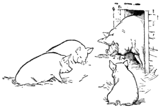 The Three Little Pigs - Illustration from J. Jacobs, English Fairy Tales (New York, 1895)