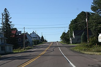 Painesdale, Michigan - Looking south along M-26