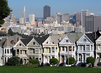 "The ""Painted Ladies"" of Alamo Square in San Francisco"