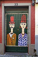 Painted door (Pair). Funchal, Madeira