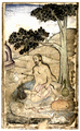 Painting of yoga asana Virasana in Persian 1602.png