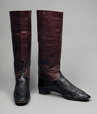 Wellington boot - Dress Wellington boots, c. 1845