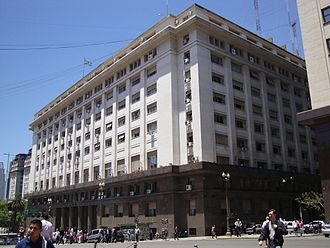Transport in Argentina - Headquarters of the Ministry of Transport in Buenos Aires