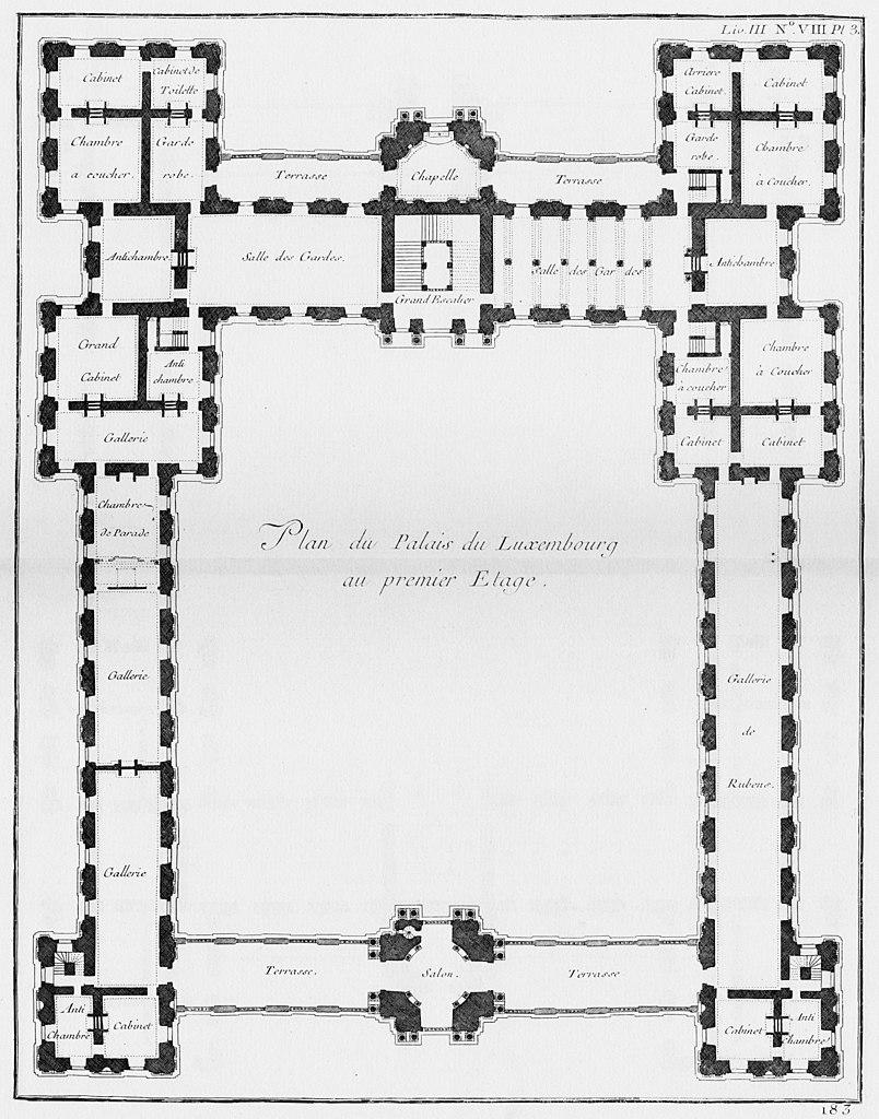 filepalais du luxembourg plan du premier 233tage