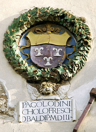 Frescobaldi - The Frescobaldi coat of arms at the Palace of the Podestà