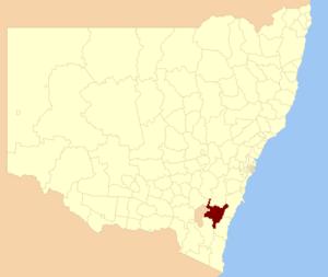 Queanbeyan–Palerang Regional Council - Location in NSW