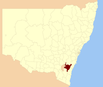 Queanbeyan–Palerang Regional Council - Location in NSW