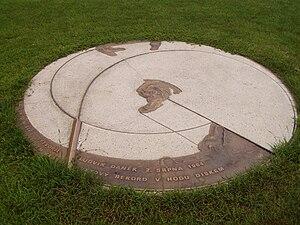 Men's discus throw world record progression - Image: Pamětní kruh, Městský stadion Ludvíka Daňka